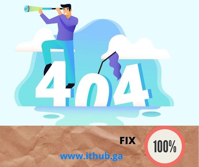 Error 404   404 NOT Found   FIX