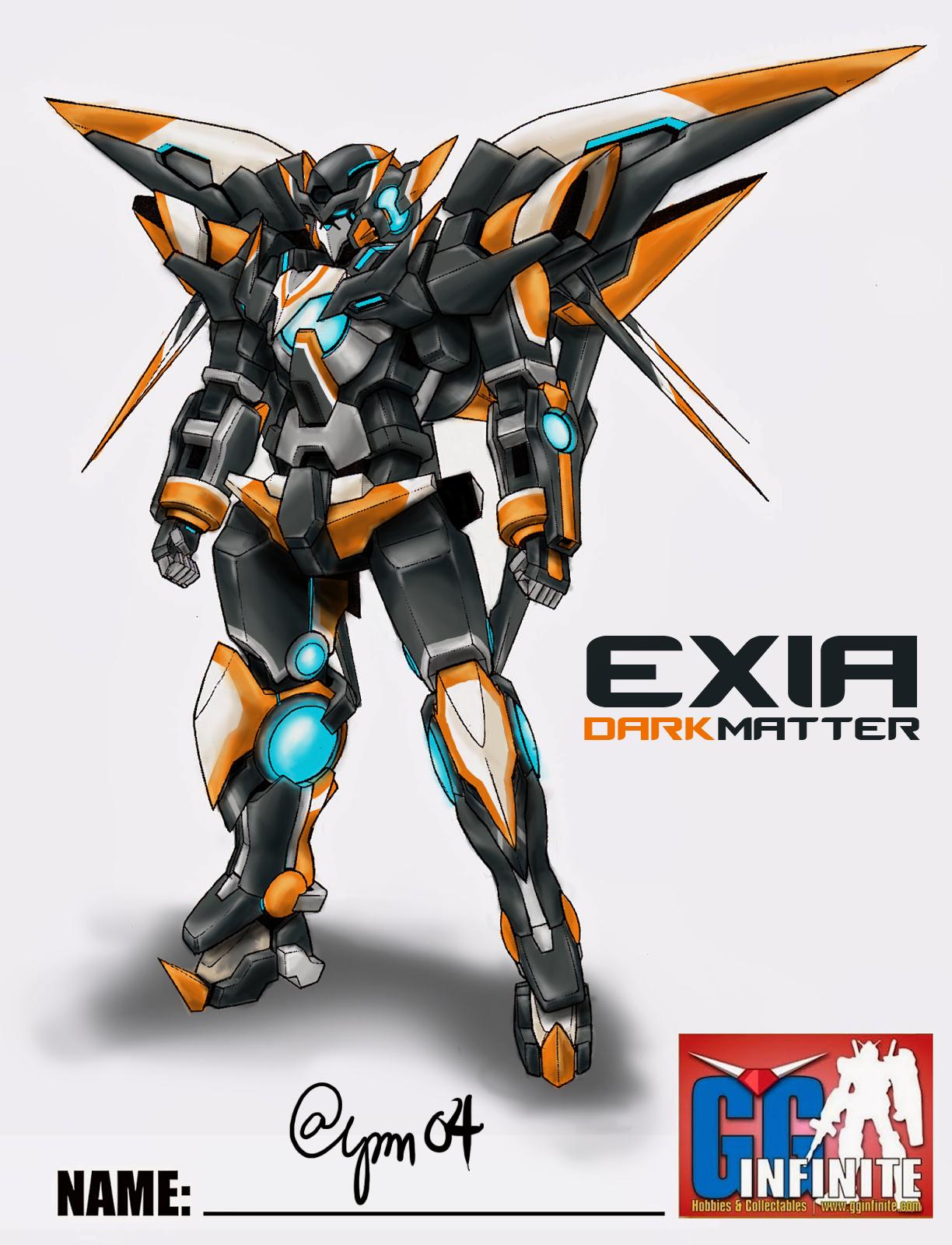 Gundam Exia Dark Matter Fan Art: Custom Color Scheme by alpm04