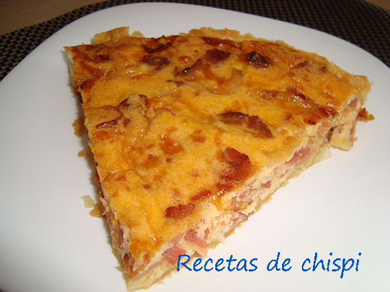 Quiche Lorraine De Bacón Y Chorizo
