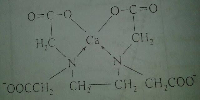 صيغة المعقد الداخلي للأديتا مع شوارد الكالسيوم