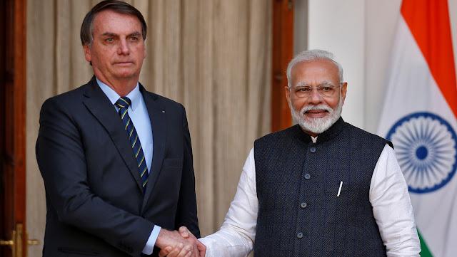 Brasil y la India firman 15 acuerdos en la primera visita de Bolsonaro a Nueva Delhi