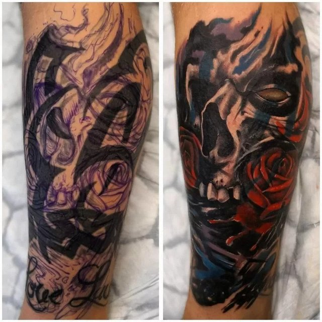 tattoo replacement, fixing tattoos before and after