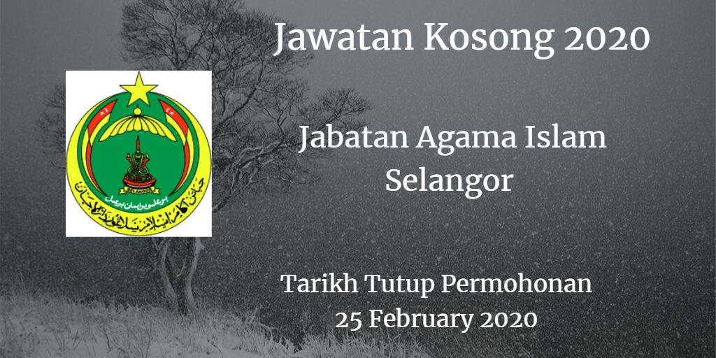 Jawatan Kosong JAIS 25 February 2020