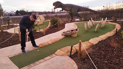 Dino Falls Adventure Golf at the Trafford Golf Centre