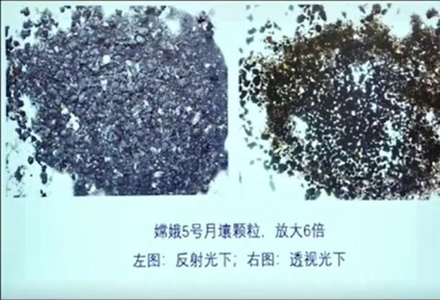 Amostra lunar coletada pela missão Chang'e 5 da China