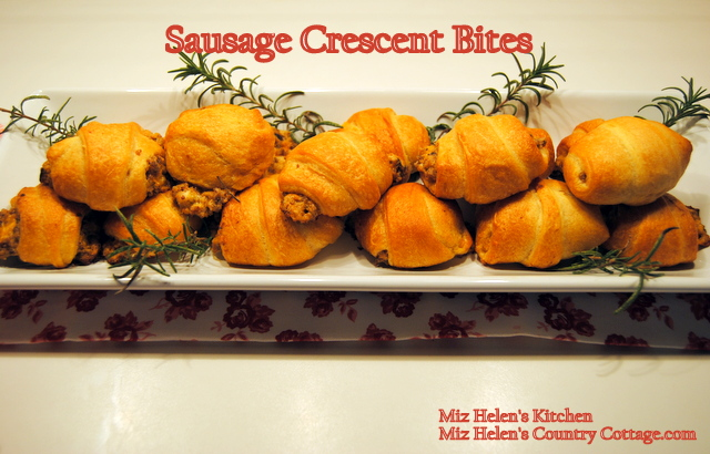 Sausage Crescent Bites at Miz Helen's Country Cottage