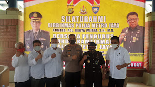 Ketua Pokdar Kamtibmas wilayah Metrojaya Prof DR Ir Djoko Setyo Widodo, SE. MM menerima silahturahmi dari Polda Metrojaya