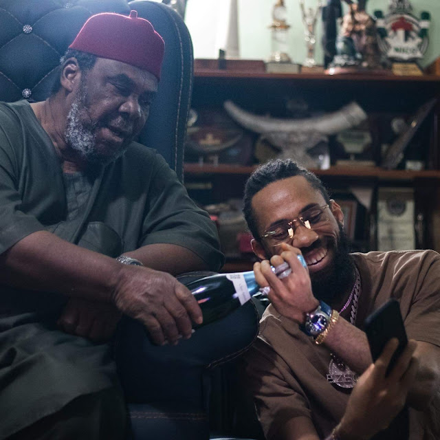 Singer Phyno Spends Chrismas Day At Pete Edochie's House, Shares Photos