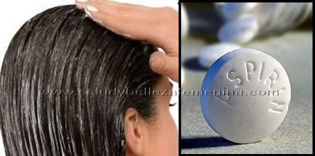 Mascarilla  natural con aspirina para el cabello,  una mascarilla casera que aprovecha las propiedades de la aspirina para aliviar las alteraciones del cuero cabelludo y estimular el crecimiento del pelo.