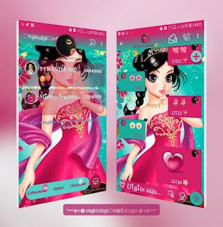 Girls Greem Pink Theme For YOWhatsApp & Fouad WhatsApp By Nanda