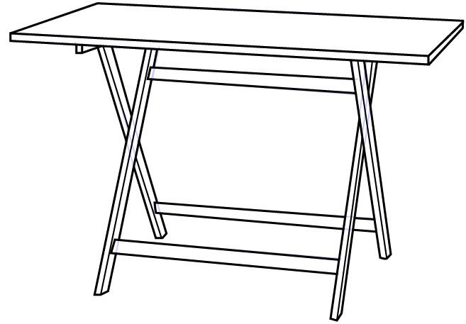Cara Mudah Menggambar atau Sketsa Meja Lipat