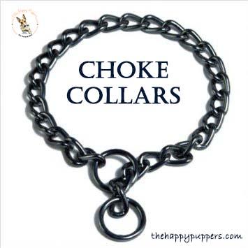 Choke collars can hurt the dog if pulls too hard