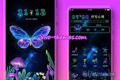 tema vivo black butterfly