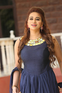 Telugu Anchor Jayanthi Stills in Blue Long Dress   (86)