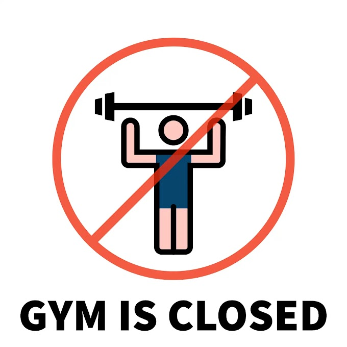 GYM IS CLOSED SIGN - PRINTABLE IMAGE