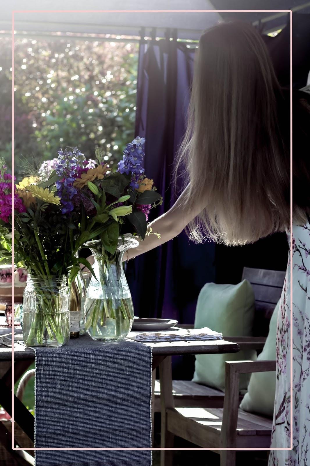 Summer Al Fresco Dining Flowers Lifestyle Blog