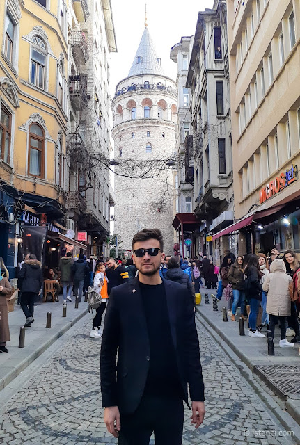 Harun İstenci'nin İstanbul Beyoğlu'nda Galata Kulesi ziyareti - Ocak 2020