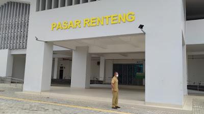 DIPANTAU CCTV: Pemerintah melengkapi operasional Pasar Renteng dengan kamera pemantau.