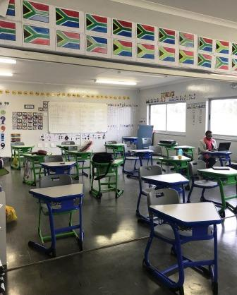 Classroom interior at Future Nations School