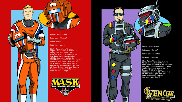 Jason and Wyatt Immortalized as M.A.S.K. Agents!