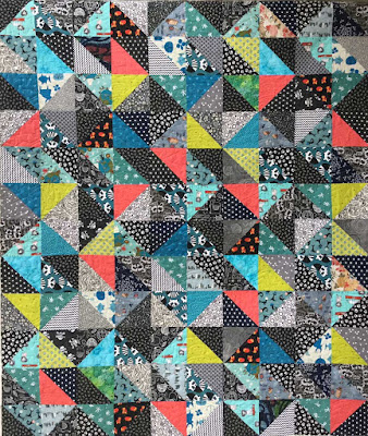 Sherry's Half Square Triangle Quilt