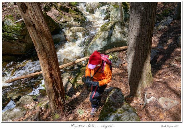 Royalston Falls: ... alongside...