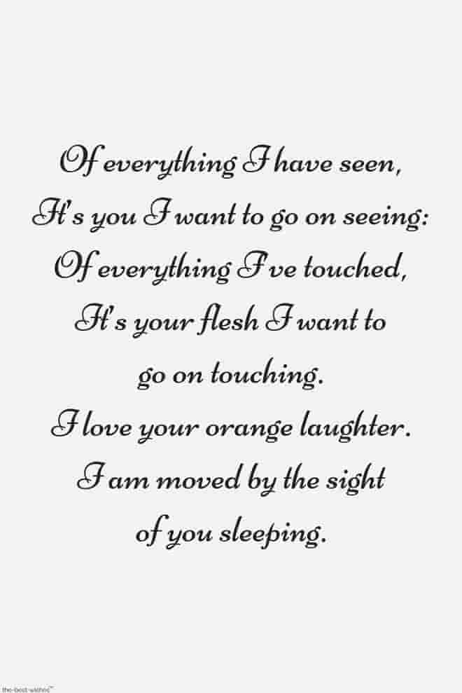 good morning romantic poems for him