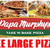 Free Large Pizaa From Papa Murphy's