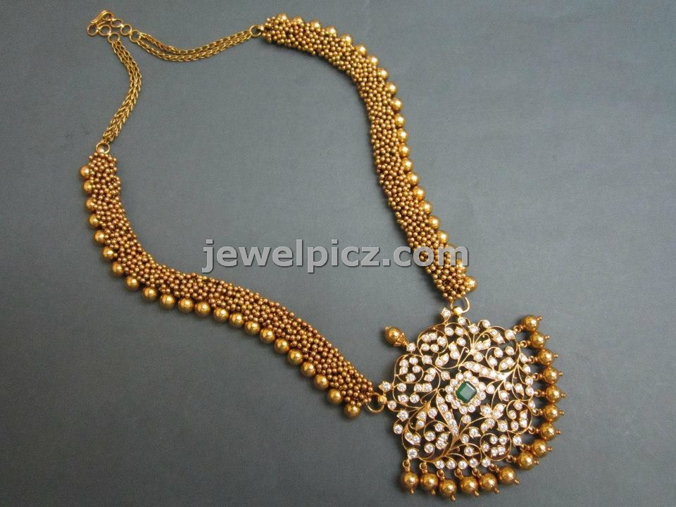 Pearl Jewellery Necklace >> Tibarumal jewellers temple necklace collection ~ Latest ...