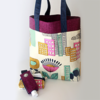 Three-Ten Tote | Find tutorials for this coordinating Tote and Accessories Set on The Inspired Wren