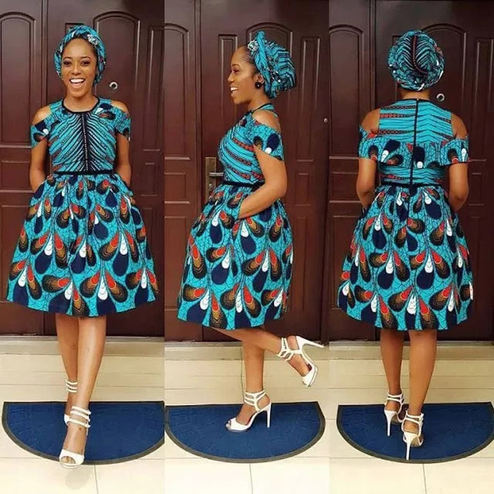 plain and pattern ankara gown (15)