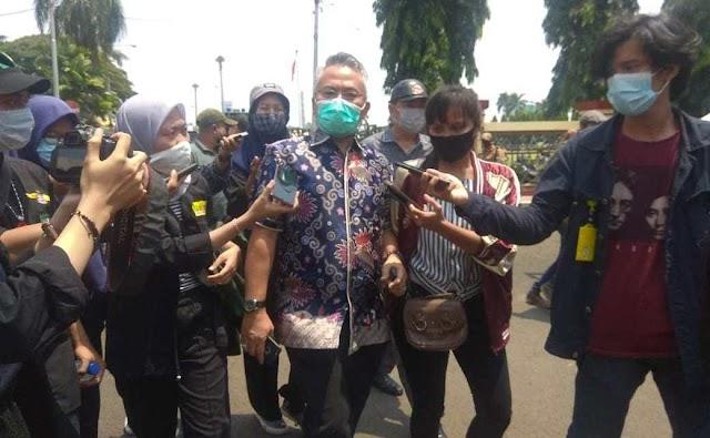 Ketua Komisi I DPRD Lampung Terima Massa Aksi