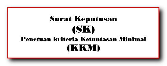 Surat Keputusan (SK) Penetapan KKM Satuan Pendidikan
