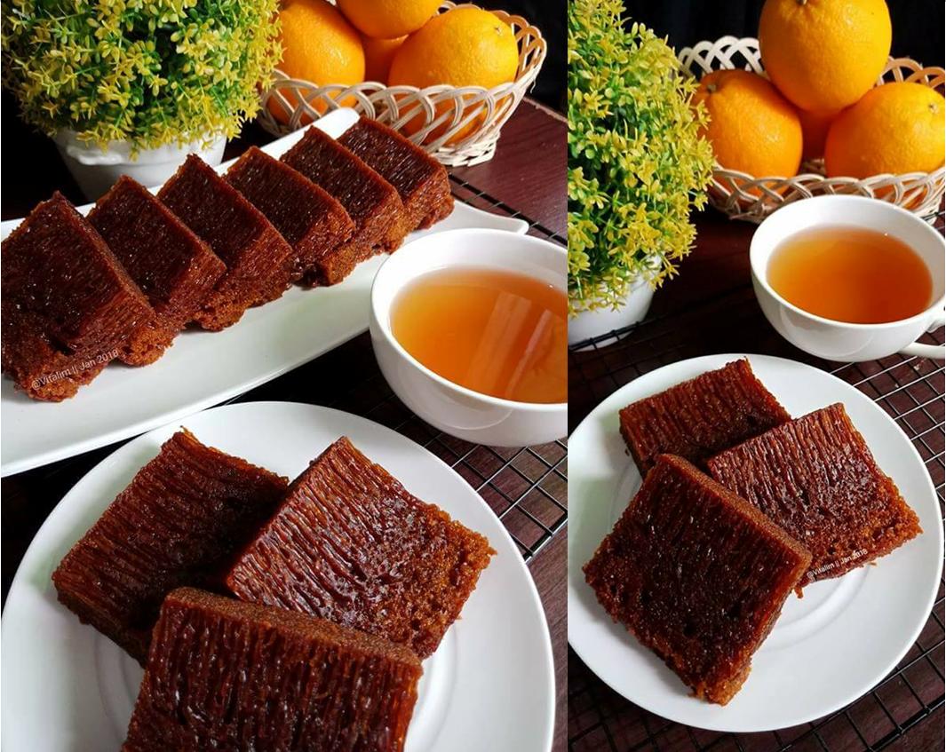 Resep Cara Membuat Bolu Karamel Aka Sarang Semut Super
