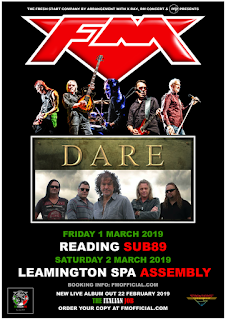FM + Dare - Reading / Leamington Spa 1-2 March 2019 - poster