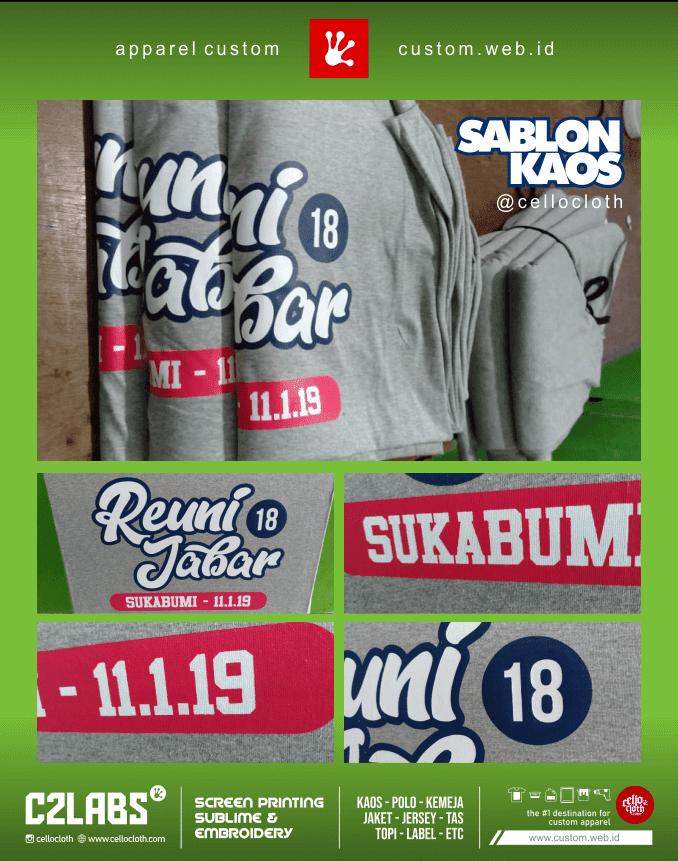 Proses Sablon Kaos Reuni Alumni Sukabumi Jabar - Sablon Kaos Reuni