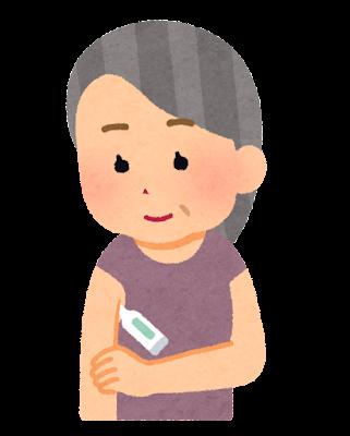 検温のイラスト(おばあさん)