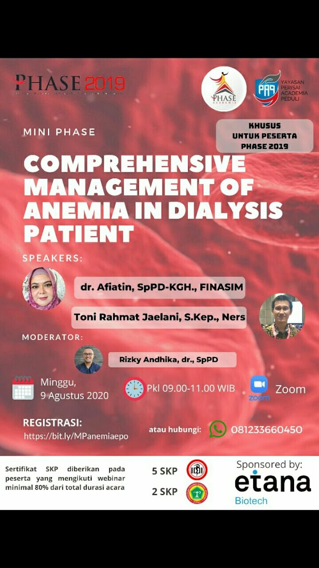 """WebinR """"Comprehensive management of Anemia in Dialysis Patient"""""""