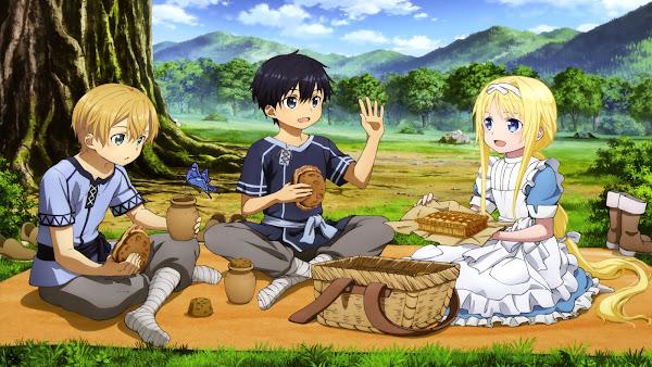 Sword Art Online Alicization kirito eugio alice kid
