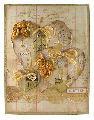 Stampers Anonymous Etcetera Prima Marketing Mould Wendy Vecchi Gold Embossing Paste Tim Holtz Idea-Ology Design Tape For The Funkie Junkie Boutique