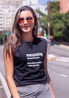 Camiseta Feminista Significado Mansplaining - Macho Palestrinha