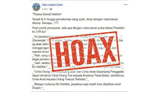 Waspada! Hoax Soal BJ Habibie Ini Paling Viral
