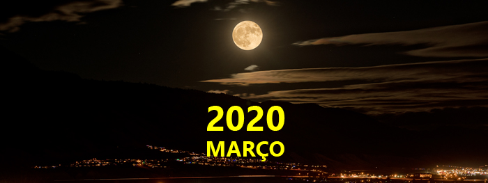 eventos astronomicos março 2020