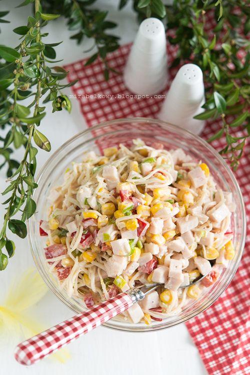 Mirabelkowy Blog Salatka Z Selera Konserwowego I Szynki