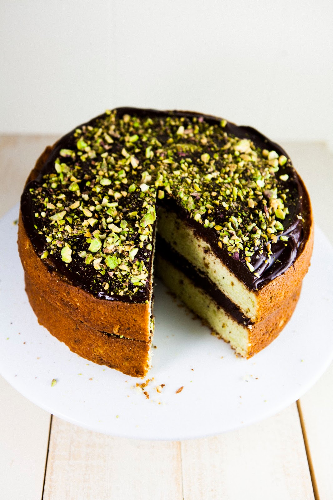 Chocolate And Pistachio Cake Hummingbird High A