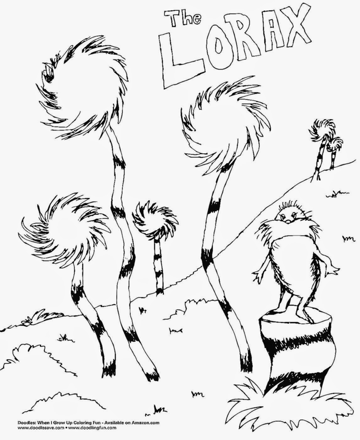 Printables Lorax Worksheets the lorax coloring sheets free sheet tree colouring pages