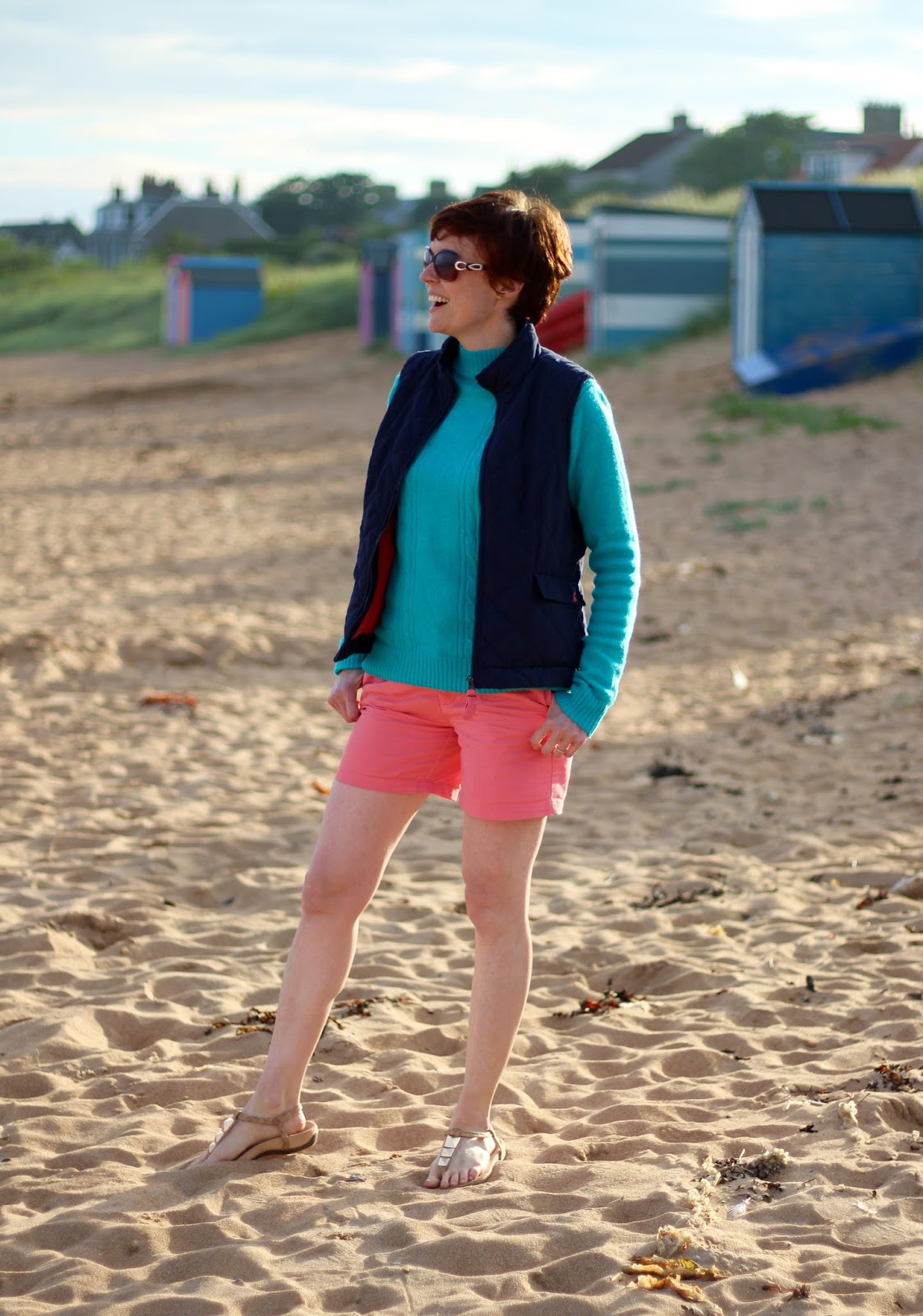 Fatface shorts & wool jumper on the beach! PPP