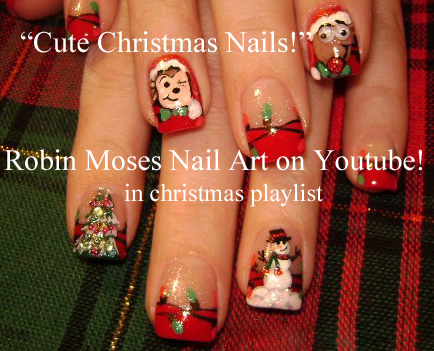 christmas nail art cute diy xmas nails 2017 tutorials holiday nails
