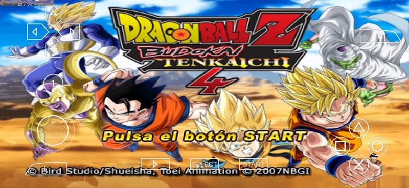 Android Game DBZ Budokai Tenkaichi 4 Mod PSP ISO With Permanent Menu