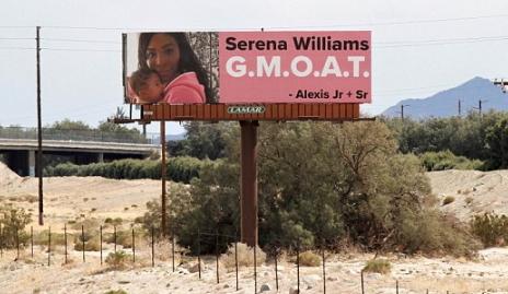 serena williams surprise billboard ad husband